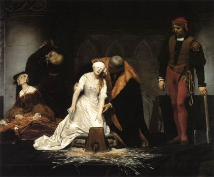 Paul Delaroche's The Execution of Lady Jane Grey (1833)